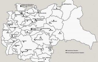 Übersichtskarte Standorte sogenannter Kinderfachabteilungen